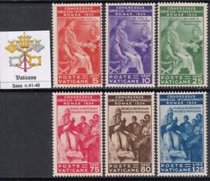 VATICANO-1935-Congresso-Giuridico-COMPLETE-SET-MH-cv-500