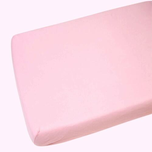 2x Moses Basket Fitted Sheets 100/% Cotton Pink