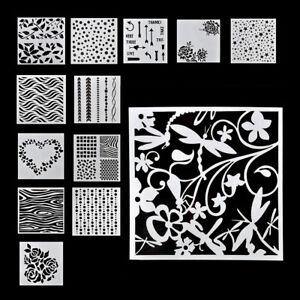 Pintura de pared 9PCS//SET plantilla de grabación en relieve de scrapbooking capas Stencils