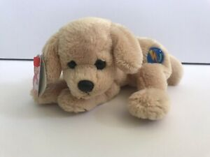 "Ty Beanie Babies Baby 2.0 Fletch Golden Retriever Puppy Dog 7"" Plush Stuffed Tan"
