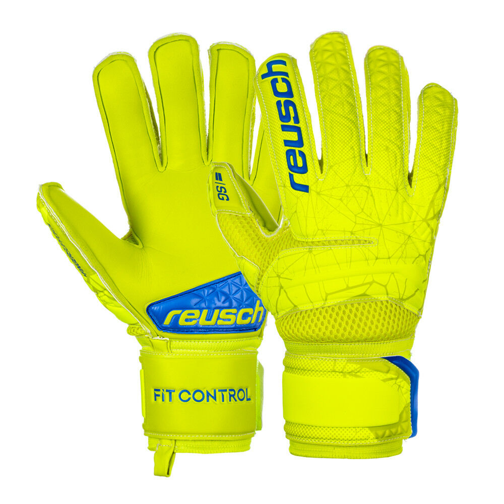 Guanti Portiere Reusch Fit Control SG Extra Finger Support Stecche Szczęsny Lime