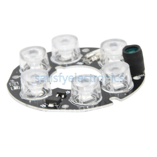 45mm 6pcs array White LED IR Leds Infrared Board for CCTV cameras night vision