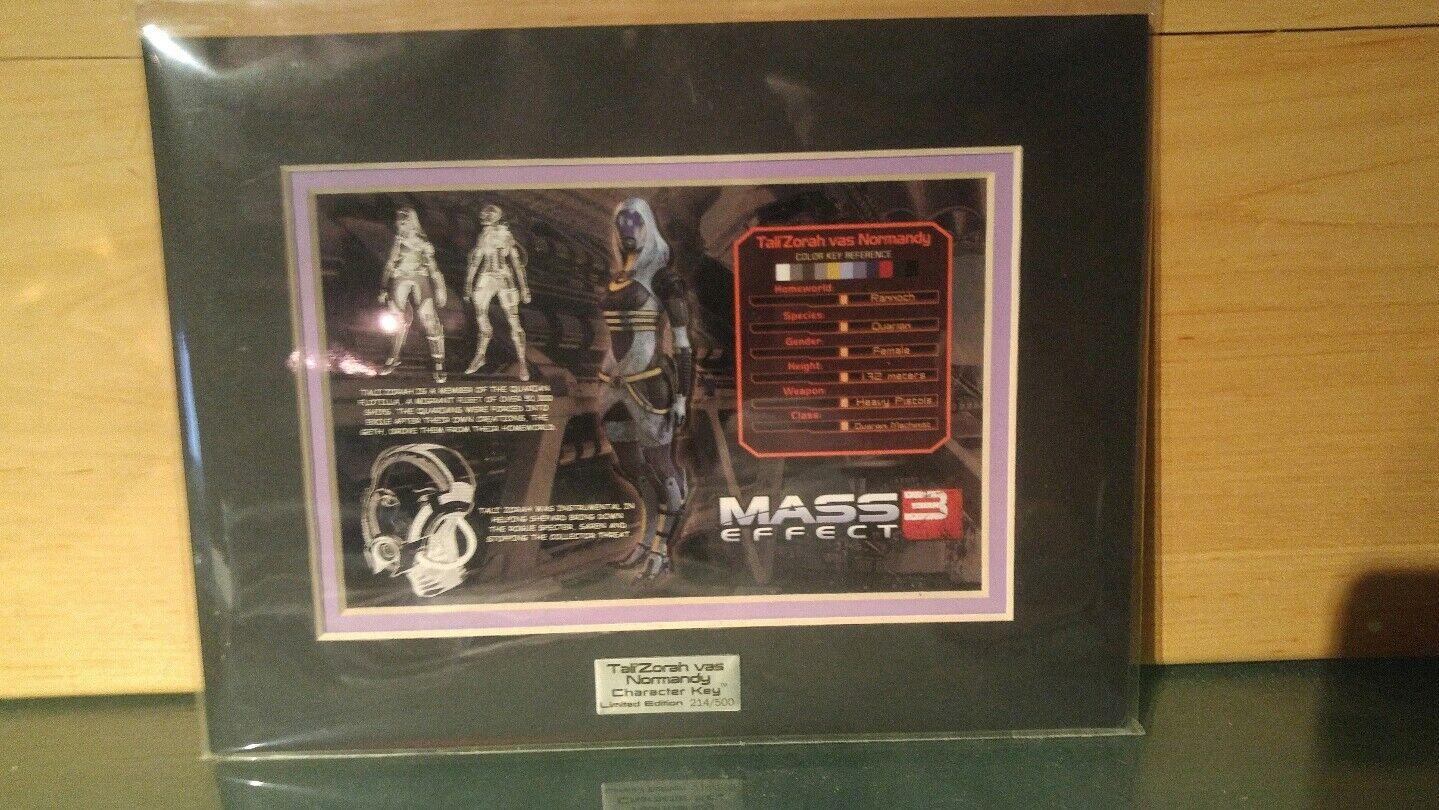 Mass effect Tali Zorah vas Normandy limited edition caracter key 214 500