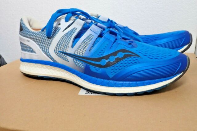SAUCONY LIBERTY ISO MEN'S SZ 10.5 RUNNING SHOES WHITE BLUE BLACK LACE UP RUNNERS