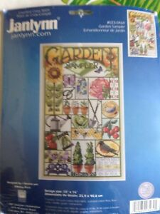 Janlynn-Garden-Sampler-Counted-Cross-Stitch-Kit-Nanci-Rossi-sealed