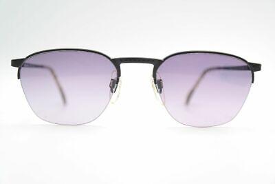 Rational Vintage Enrico Coveri Mod. 718 - 610 51[]20 Schwarz Halbrand Sonnenbrille Nos