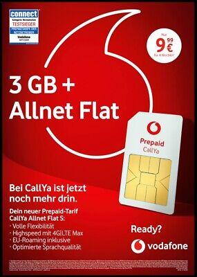 Vodafone CallYa Allnet Flat S Prepaid Sim Karte D2 inkl. 3 ...
