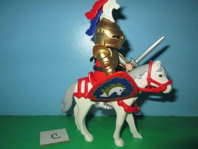 playmobil unicorn golden sir christopher knight horse 5477