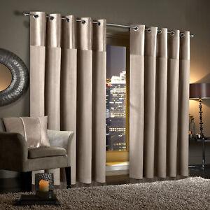 Gran Reno Mink Crushed Velvet Curtains