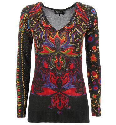 Desigual maglia nera Jers Nevada con fantasia e borchiette per donna Desigual JE
