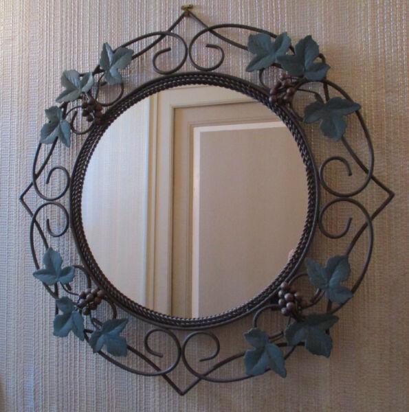 *miroir Fer ForgÉ Vintage- Décor De Vigne