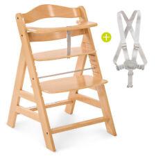 Hauck Hochstuhl Holz Baby Kinder Alpha Plus - Natur / bis 90 kg, verstellbar