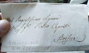 1841-PREFILATELICA-DA-ACQUAFREDDA-NEL-BRESCIANO-A-BRESCIA-CON-TESTO