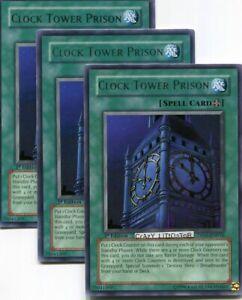 3 X Yu Gi Oh Clock Tower Prison 1st Ed Silver Rare N Mint Dp05 En016 Ebay