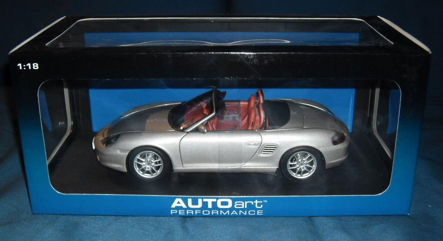 1 18 Porsche Boxster (986) - silber - AUTOart - NEU in OVP  |