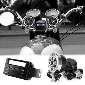 Radio FM FMP3 Speakers Stereo For Harley Davidson Dyna Glide Fat Bob