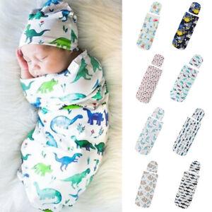 Newborn-Infant-Baby-Toddler-Swaddle-Wrap-Blanket-Sleeping-Bag-Sleep-Sack-Hat