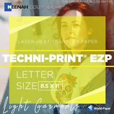 Laser Heat Transfer Paper For Light T Shirts Techni Print Ezp 85x11 25 Sheet