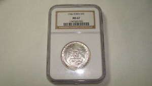 1946 Iowa Silver Commemorative Half 50C - NGC MS67 (#YT46)