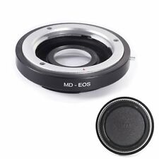 Adapter w/ Optical Glass For Minolta MD MC Lens to Canon EOS EF 600D 7D II 760D