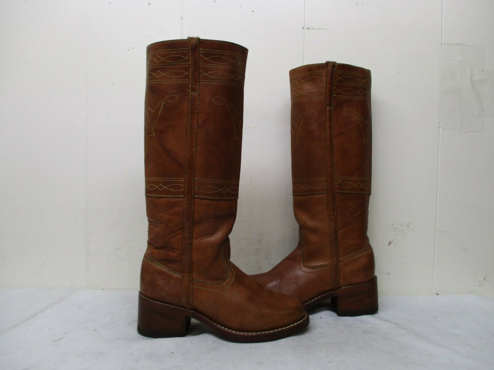 Frye Brown Leather Campus Knee High Boots Womens Size 6.5 B Style 77370