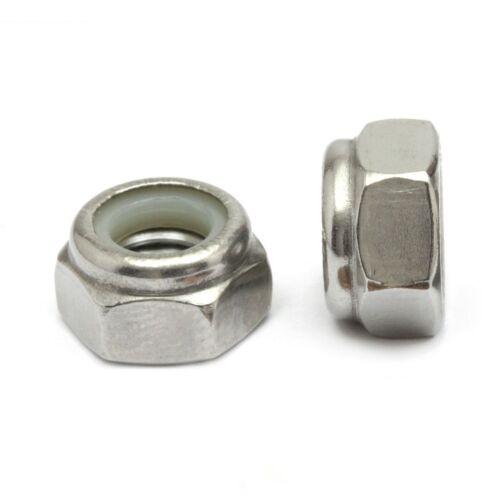 Metric DIN 985 A2-70 18-8 M8-1.25 Stainless Steel Nylon Insert Hex Lock Nut
