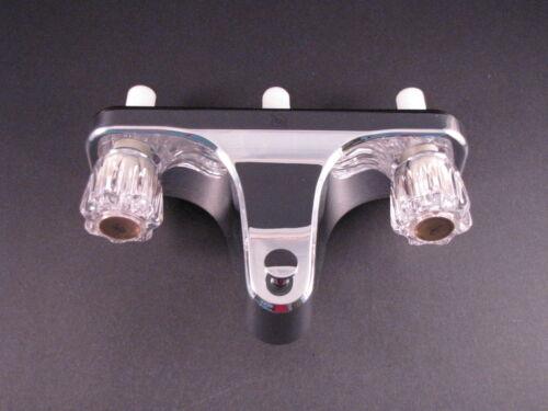 """Mobile Home RV Tub//Shower Faucet 8/"""" on center valves Chrome 2 Valve Diverter"""