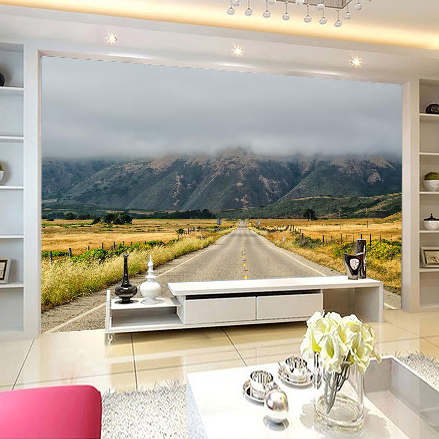 3D Highway Nature Scenery 02 Paper Wall Print Wall Decal Wall Deco Indoor Murals