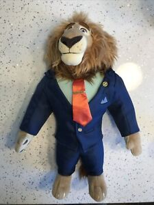 DISNEY Store zootropolis SINDACO leodore LION Lionheart 40cm giocattolo morbido peluche