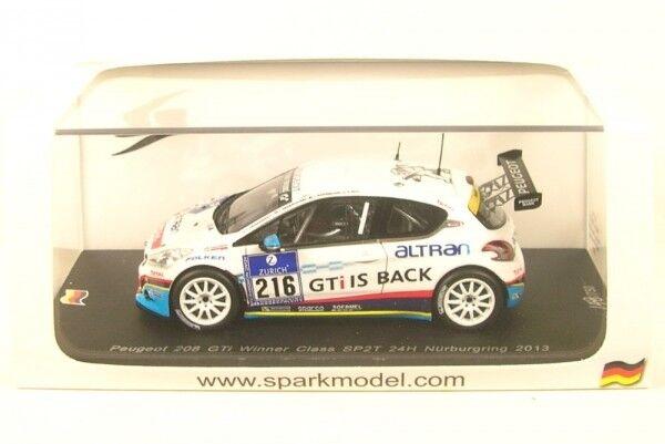 PEUGEOT 208 GTI no.216 gangant CLASSE SP2T 24h Nürburgring 2013( C.frankenhout