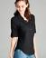 NEW-Plus-Size-Cotton-Button-Front-Shirt-Blouse-3-4-Sleeve-L-XL-1X-2X-3X thumbnail 2