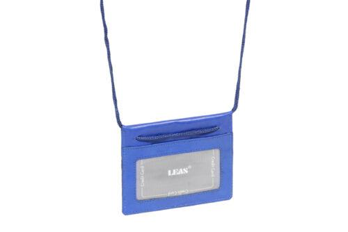 """/""""LEAS Travel-Line/"""" Sacchetti Petto LEAS in vera pelle- Blu"""