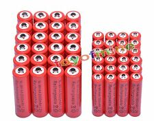 24 AA 3000mAh + 24 AAA 1800mAh Ni-Mh Rechargeable Battery for MP3 RC Toy Red