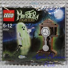 NEW Lego Glow in Dark GHOST MINIFIG Set 30201 Monster Fighters Grandfather Clock
