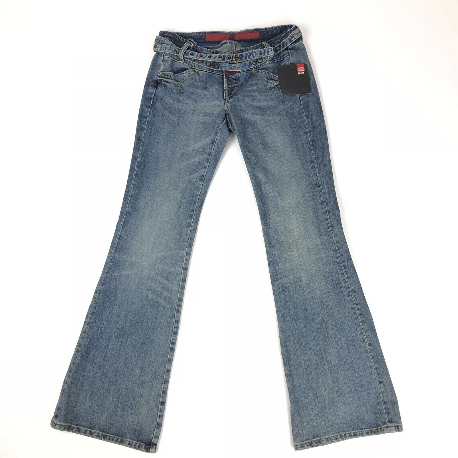 Marithe Francois Girbaud VTG Womens 28 Rodeo Gal Jeans Button Fly Belt Bootcut