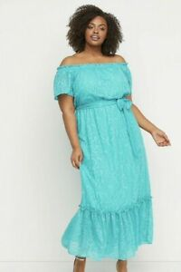 New-Lane-Bryant-Womans-Off-Shoulder-Fit-and-Flare-Maxi-Dress-14-16-18-20-NWT