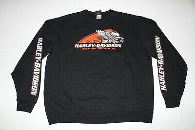 Harley Davidson Long Sleeve T-Shirt Men/'s Size M or XL Black Logo Double Sided