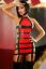 Effet Robe NoirRouge Vinyle Robe Sexy Porte Cuir Glamour Fashion jarretelles ZiPkuX