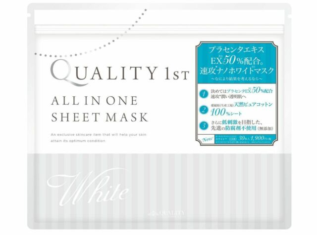 Quality First All-in-one sheet Mask White 30 sheets Japan