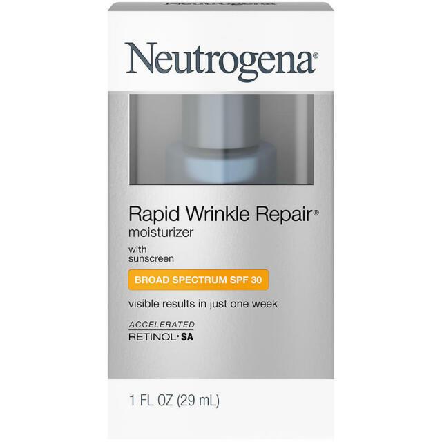 Neutrogena Rapide Wrinkle Réparation Hydratante avec Solaire SPF 30 Crème, 1 OZ