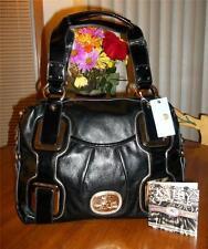 KATHY VAN ZEELAND BLACK FOUR EYES LARGE SATCHEL- MSRP $115-HARD TO FIND BAG-NWT