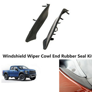 Lincoln Mark LT Windshield Wiper Cowl End Rubber Seal Kit fit 04-08 Ford F-150