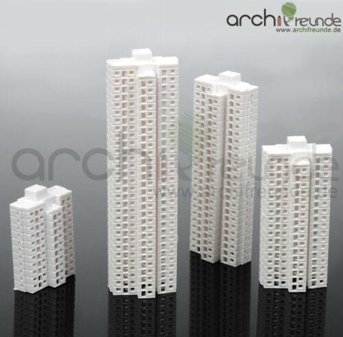 Type B Type C 4 x Model Skyscraper Building 1:1000 Type D Type A