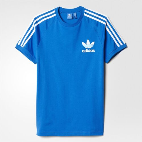 adidas ORIGINALS CALIFORNIA T SHIRT MEN/'S BLUEBIRD TEE 3 STRIPES WHITE TREFOIL