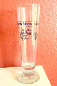 Magic-Time-Machine-Restaurant-Collector-Tall-Drink-Glass-Vintage-9-034
