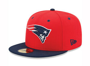 New Era 59Fifty Cap Mens NFL New England Patriots Red Navy Blue ... 0e95dad000e