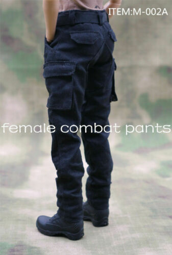 1//6 Female Combat Pants M-002A Black Trousers F 12/'/' Action Figure Doll
