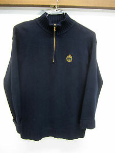 100 L Sz Lauren lynlås Euc Cotton Lrl Navy Label Grøn Crest Sweater Ralph Halv 4w7Owv