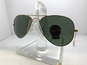 1743cfc809700 New Ray Ban Sunglasses RB 3025 L0205 LARGE METAL GOLD CABLE TEMPLE G ...