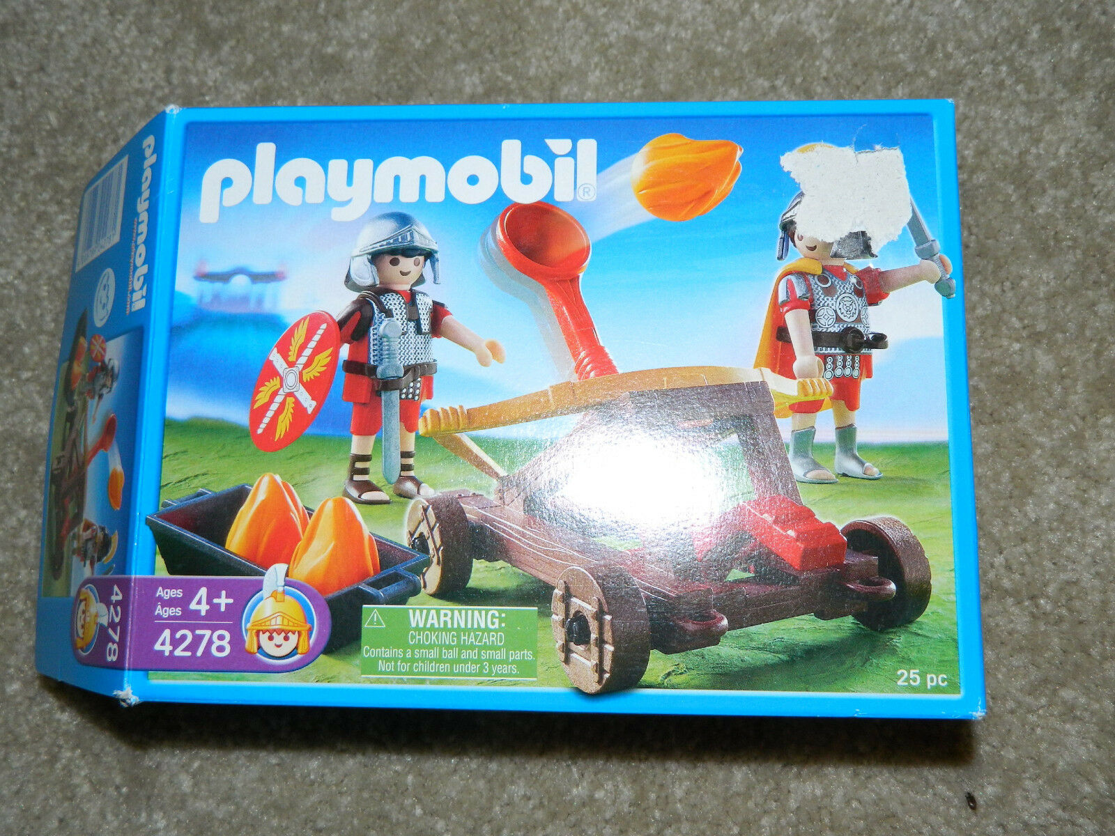 PLAYMOBIL 4278 (Retired) (Retired) (Retired)  Knights W Catapult Set  Complete & MINT w  Box 479076
